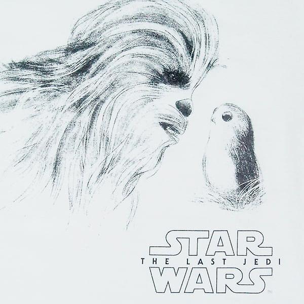 Womens Star Wars les derniers Jedi Chewie & Porg T Shirt blanc