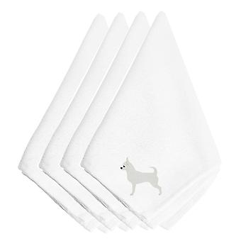 Carolines Treasures  BB3450NPKE Chihuahua Embroidered Napkins Set of 4
