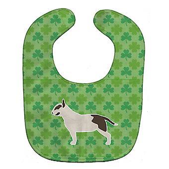 Carolines Treasures  BB6483BIB Bull Terrier Shamrocks  Baby Bib