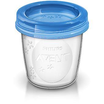 AVENT 10 pahare reutilizabile pentru depozitarea laptelui matern 180ml