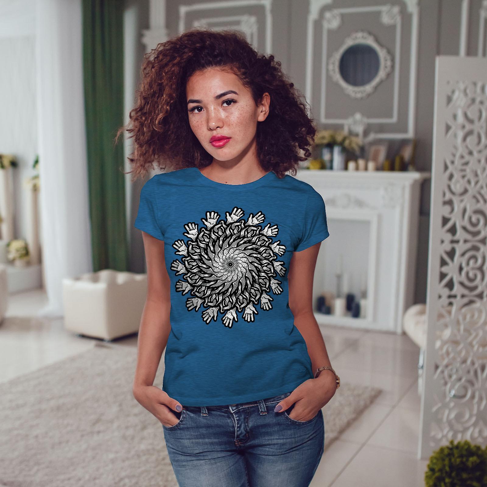 Mandala fleurs Royal BlueT-chemise de femme | Wellcoda