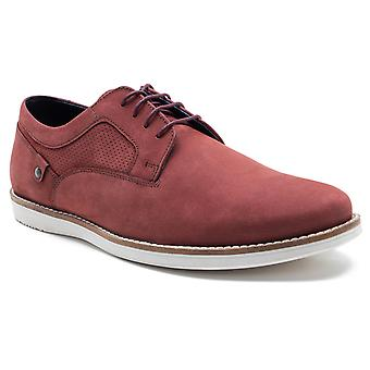 Red Tape Holker Mens Oxblood Suede Casual Lace-Up Shoes