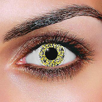 Glimmer Black & Gold Contact Lenses (Pair)
