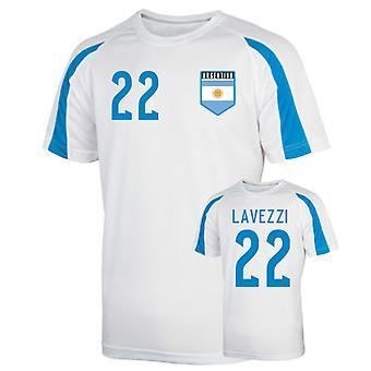 Argentina Sports trening Jersey (lavezzi 22)