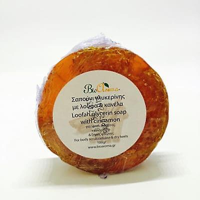 Glycerin body soap with Loofah sponge - Cinnamon 100gr