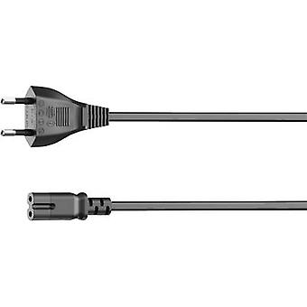 Euro power cable for sonos PLAY:3 / PLAY: 5, straight, 5 m, black