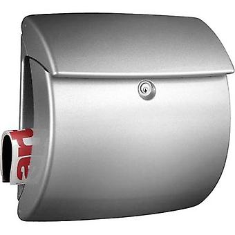 Letterbox Burg Wächter 7830 KIEL 886 SI Plastic Silver Key