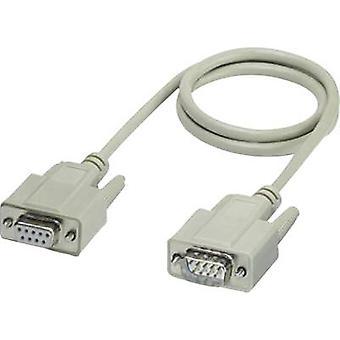 Phoenix Contact Series, Parallel Cable [1x D-SUB socket 9-pin - 1x D-SUB-plug 9-pin] 1,00 m Hvid