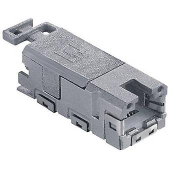 Metz Connect 1401100810MI 8P8C RJ45 Connector, straight Grey