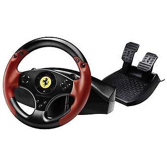 Thrustmaster Ferrari® rød Legend Edition Steering wheel USB-PlayStation 3, PC sort, rød incl. fodpedaler
