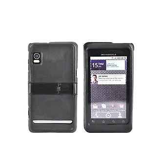Motorola Droid 2 A955 Snap-On caso con pata de cabra (negro) (empaquetado a granel)