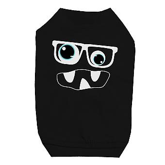 Monster With Glasses Black Pet Shirt for Small Dogs