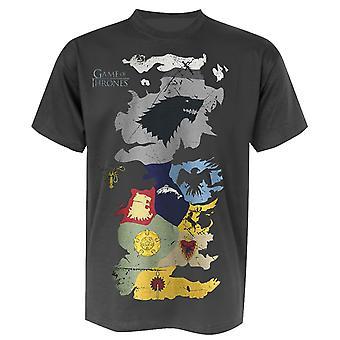 Peli Thrones t-paita West lohen vaakuna kartta