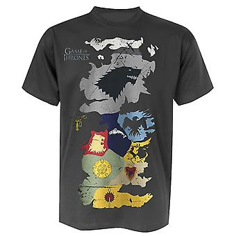 Game of Thrones T-Shirt Westeros Wappen-Karte