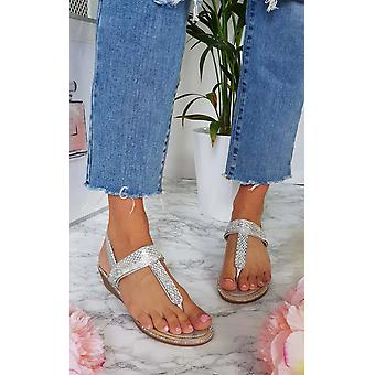 IKRUSH Womens Emie verfraaid T-Bar ingeklemd sandaal