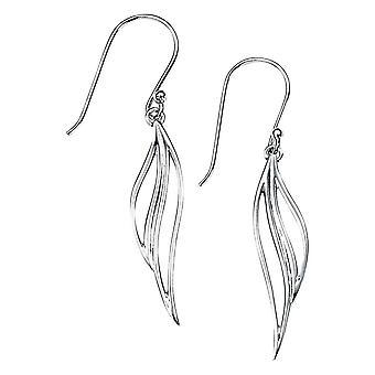 Elemente offen Blattsilber Tropfen Ohrringe - Silber