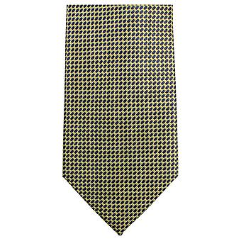 Knightsbridge Neckwear Small Pattern Tie - Yellow/Black