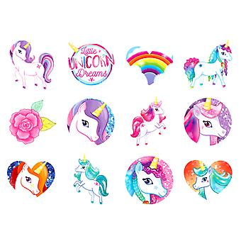 Einhorn Einhorn Unicords Tattoos Tattoos 24pcs