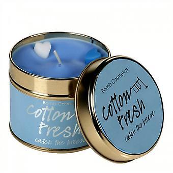 Bomb Cosmetics Tin Candle Algodón Fresco