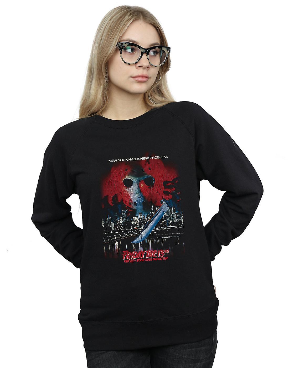 Friday The 13th Women's Jason Takes Manhattan Sweatshirt