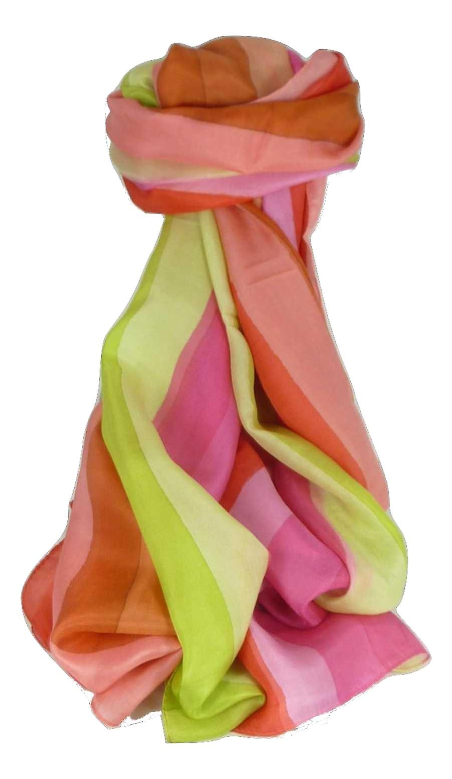 Mulberry Silk Classic Long Scarf Gala Rainbow Palette by Pashmina & Silk