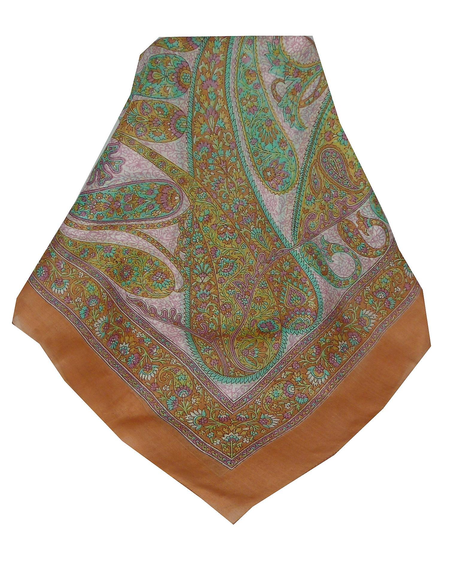 Mulberry Silk Classic Square Scarf Rachol Gold by Pashmina & Silk