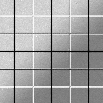 Metal mosaik Rustfrit stål Alloy Cinquanta-S-S-MB