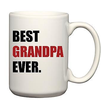 Men's Best Grandpa Ever Red Big Mug 15oz