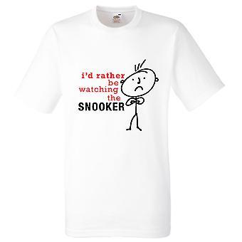 Miesten olen mieluummin katsella Snooker valkoinen t-paita
