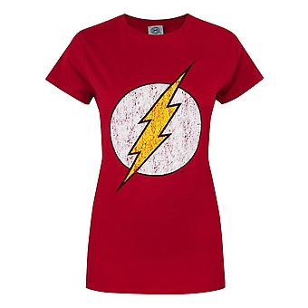 Offical Flash Distressed Logo Women's T-Shirt Red