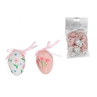 Gisela Graham Pink Easter Tree Decorations