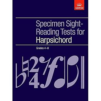 Specimen Sight-Reading Tests voor klavecimbel, rangen 4-8 (ABRSM zichtlezen)