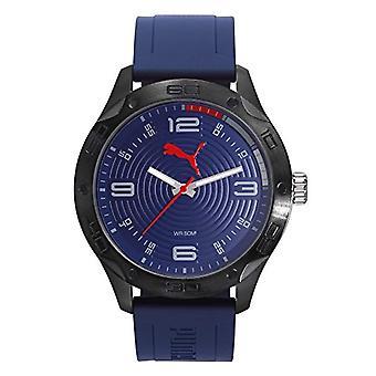 Cougar Time Asphalt wrist watch, analog, Black plastic band (Black/Navy)