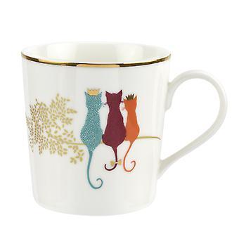 Sara Miller Piccadilly Mug Feline Friends