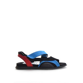 Prada Ezbc021008 Women's Black Suede Sandals