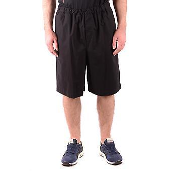 Mcq Door Alexander Mcqueen Ezbc053057 Men's Black Cotton Shorts