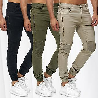 Men's Jogger Pants Chino Biker Sweat Pants Destroyed Casual Used Trousers