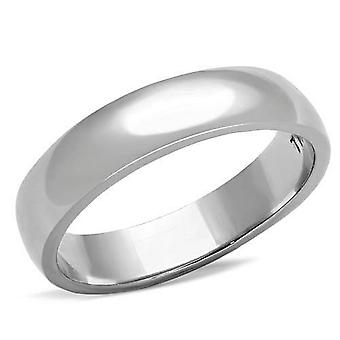 Ah! Jewellery Stainless Steel Band Ring Set With Simulated Diamonds