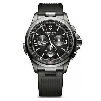 Victorinox Swiss Army Watches 241731 Night Vision Chronograph Black Ice Pvd Rubber Watch