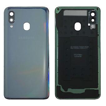Samsung GH82-19406A paristo kannen kansi Galaxy A40 A405F + liima pad musta uusi