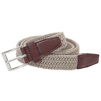 Stretchy Belts Mens Thin Plain Weave Belt