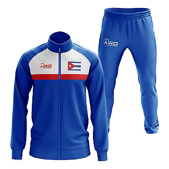 Návrh kubánské fotbalové Trackoblek (modrý)