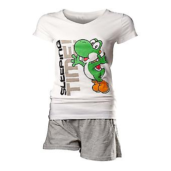 Flashpoint AG Super Mario Yoshi Sleeping Time Pyjamas White-Grey - Large