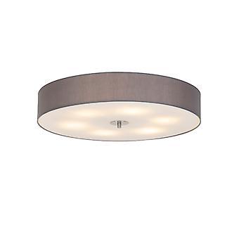 QAZQA Country ceiling lamp gray 70 cm - Drum
