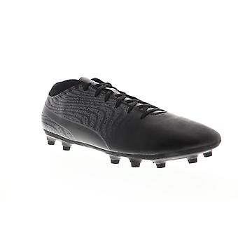 Puma One 18.4 FG Hommes Black Low Top Athletic Soccer Cleats Chaussures