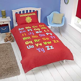 Rapport Bedtime Learning Toddler Reversible Single Duvet Cover Set