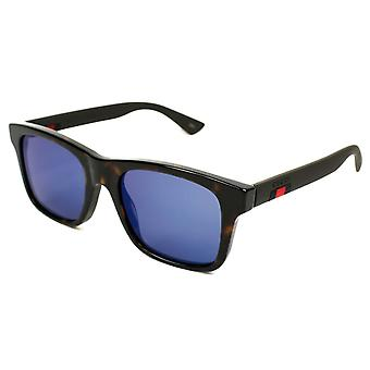 Gucci Blue Mirror Plastic Sunglasses GG0008S-003