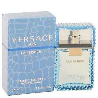 Versace man av Versace Eau fraiche Eau de Toilette Spray (blå) 1 oz (män) V728-440253
