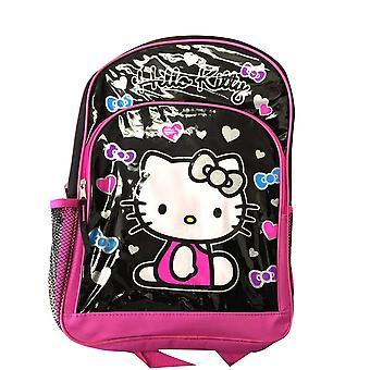 Backpack - Hello Kitty - Hearts & Bows Black   16