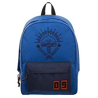Backpack - Minecraft - Blue New Licensed bp6f82mnc